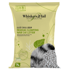 Whiskers2Tail Premium Clumping Paper Cat Litter Apple 7L (4 Packs)