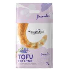 Whiskers2Tail Tofu Cat Litter Lavender 7L (3 Packs)