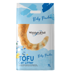 Whiskers2Tail Tofu Cat Litter Baby Powder 7L (3 Packs)