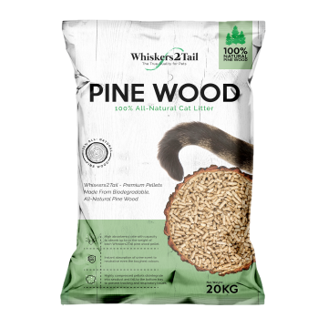 Whiskers2Tail Pine Wood Litter 20kg (2 Packs)