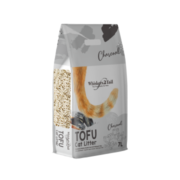 Whiskers2Tail Tofu Cat Litter Charcoal 7L (6 Packs)