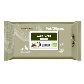 Whiskers2Tail Pet Wipes 100's Aloe Vera (6 Packs)