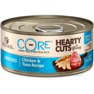 Wellness Core Hearty Cuts Shredded Chicken & Tuna 156g