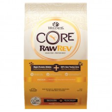 Wellness Core RawRev Grain Free Indoor Recipe with Freeze-Dried Turkey Liver Dry Food 10lb