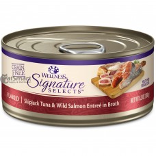 Wellness Core Signature Selects Flaked Skipjack Tuna & Wild Salmon Entree in Broth 150g Carton (12 Cans)