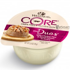 Wellness Core Divine Duos Chicken Pate & Diced Salmon in Gravy 79g