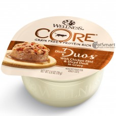 Wellness Core Divine Duos Chicken Pate & Diced Duck in Gravy 79g