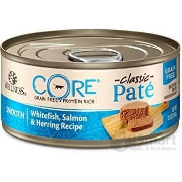 Wellness Core Grain Free Salmon, Whitefish & Herring 156g Carton (12 Cans)