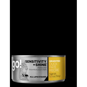 GO! SENSITIVITY + SHINE™ Grain Free Duck Pâté Recipe 156g