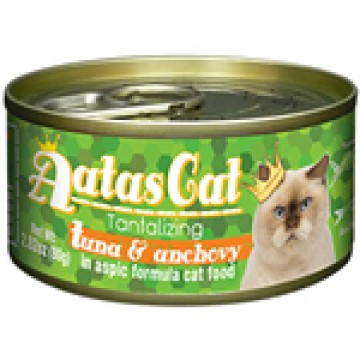 Aatas Cat Tantalizing Tuna & Anchovy 80g Carton (24 Cans)