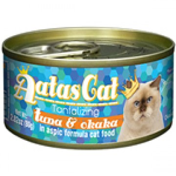 Aatas Cat Tantalizing Tuna & Okaka 80g  Carton (24 Cans)