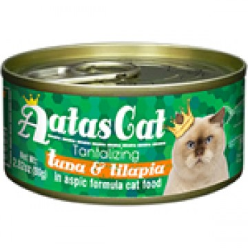 Aatas Cat Tantalizing Tuna & Tilapia 80g Carton (24 Cans)