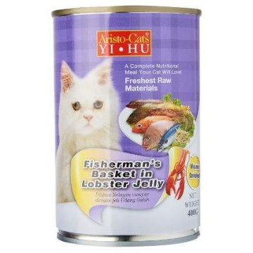 Aristo Cats Fresh Fisherman's Basket In Lobster Jelly 400g carton (24 Cans)