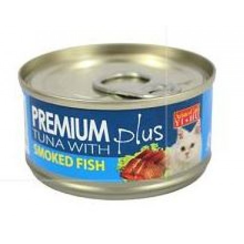 Aristo cats premium plus tuna with smoked fish 80g carton for Is tuna fish good for cats