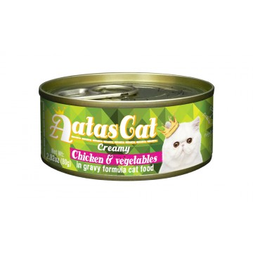 Aatas Cat Creamy Chicken & Vegetables 80g Carton (24 Cans)
