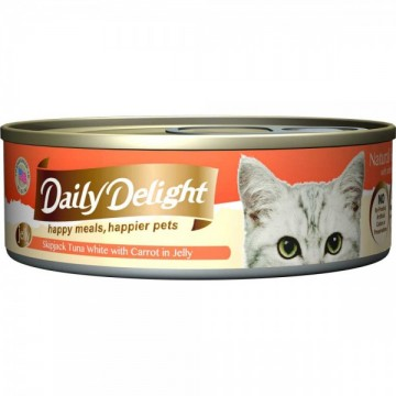 Daily Delight Jelly Skipjack Tuna White with Carrot 80g Carton (24 Cans)