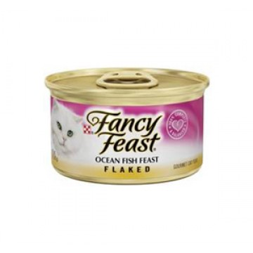 Fancy Feast Flaked Ocean Fish 85g Carton (24 Cans)