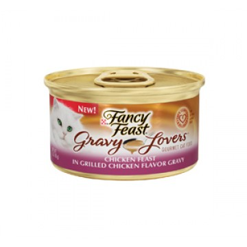 Fancy Feast Gravy Lovers Chicken in Grilled Chicken Flavor Gravy 85g Carton (24 Cans)