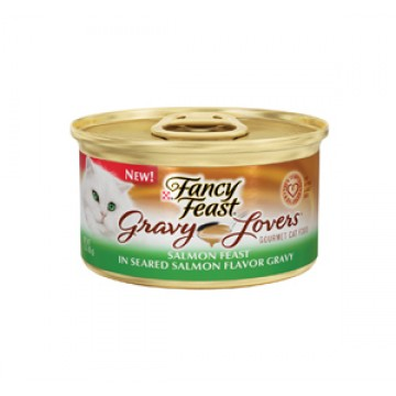Fancy Feast Gravy Lovers Salmon in Seared Salmon Gravy 85g Carton (24 Cans)