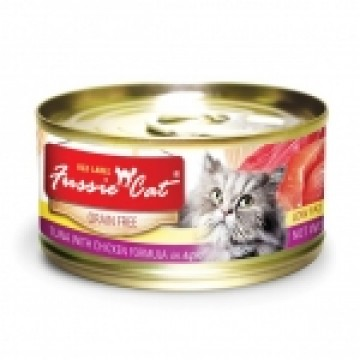 Fussie Cat Red Label Tuna with Chicken 80g Carton (24 Cans)