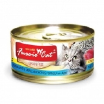 Fussie Cat Red Label Tuna with Small Anchovies 80g