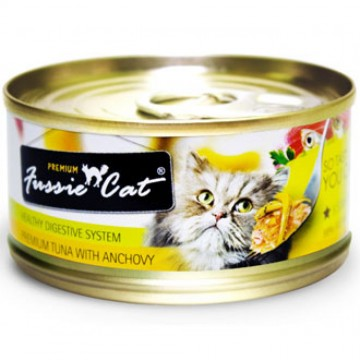 Fussie Cat Premium Tuna With Anchovy 80g
