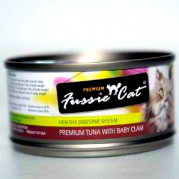 Fussie Cat Premium Tuna With Clams 80g Carton (24 Cans)