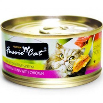 Fussie Cat Premium Tuna With Chicken 80g Carton (24 Cans)