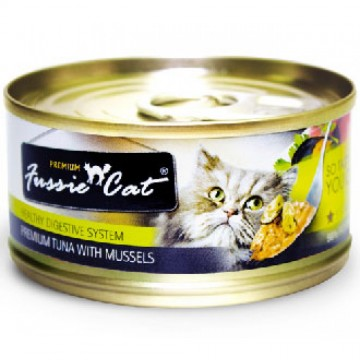 Fussie Cat Premium Tuna With Mussels 80g Carton (24 Cans)