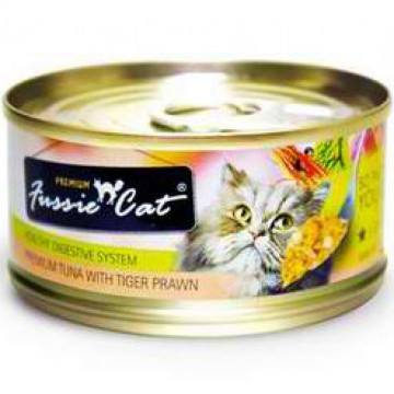 Fussie Cat Premium Tuna With Prawn 80g Carton (24 Cans)
