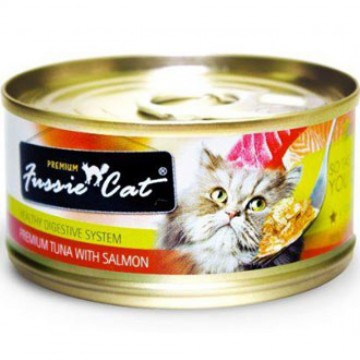 Fussie Cat Premium Tuna With Salmon 80g Carton (24 Cans)