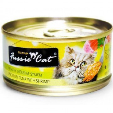 Fussie Cat Premium Tuna With Shrimp 80g