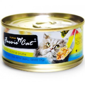 Fussie Cat Premium Tuna With Small Anchovy 80g Carton (24 Cans)