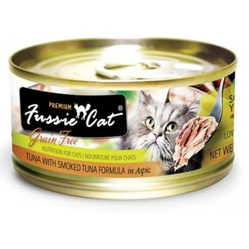 Fussie Cat Premium Tuna with Smoked Tuna 80g