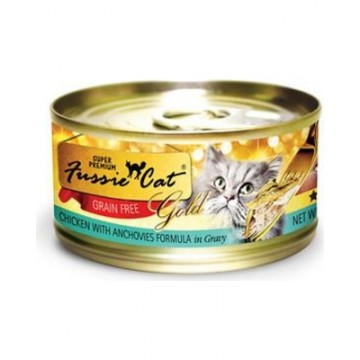 Fussie Cat Super Premium Grain Free Chicken With Anchovies 80g