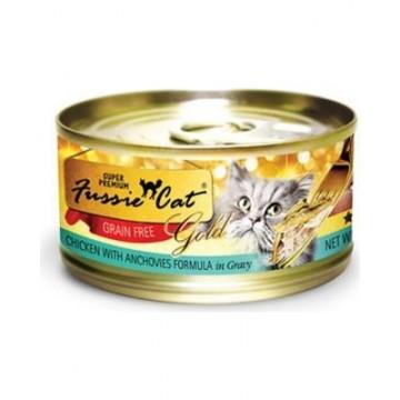 Fussie Cat Super Premium Grain Free Chicken With Anchovies 80g