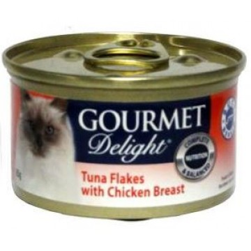 Gourmet Delight Tuna Flakes with Chicken Breast 95g  Carton (24 Cans)