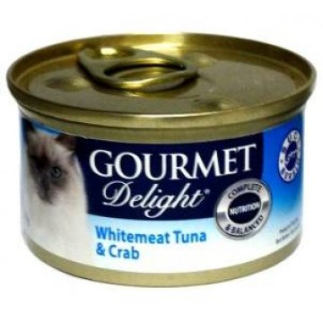 Gourmet Delight Whitemeat Tuna and Crab 95g  Carton (24 Cans)