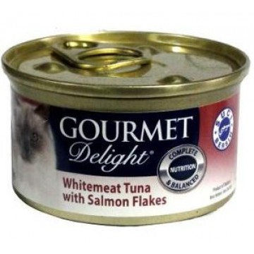 Gourmet Delight Whitemeat Tuna with Salmon Flakes 95g  Carton (24 Cans)