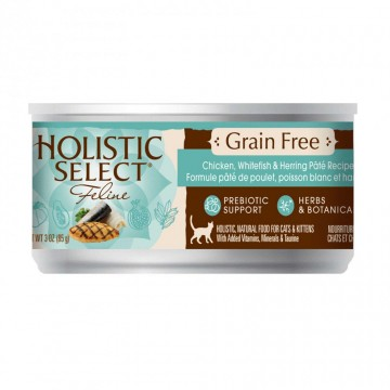 Holistic Select Grain Free Chicken Pate 156g Carton (12 Cans)