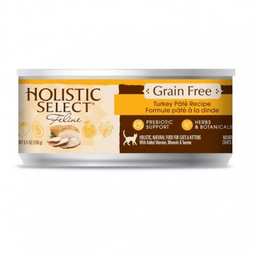 Holistic Select Grain Free Turkey Pate 156g Carton (12 Cans)