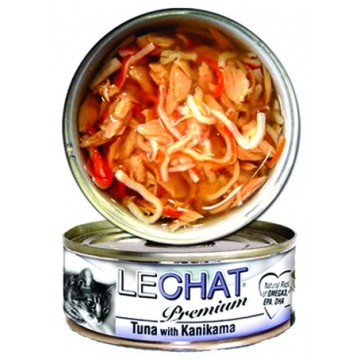 LeChat Premium Tuna with Kanikama 80g