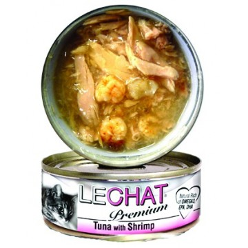 LeChat Premium Tuna with Shrimps 80g