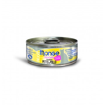 Monge Delicate Chicken 80g Carton (24 Cans)