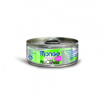Monge Delicate Chicken with Asparagus 80g Carton (24 Cans)
