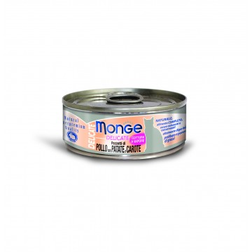 Monge Delicate Chicken with Potato and Carrot 80g Carton (24 Cans)