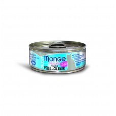 Monge Delicate Chicken with Squid 80g Carton (24 Cans)