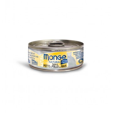 Monge Natural Tuna and Chicken with Corn 80g