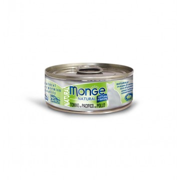 Monge Natural Yellowfin Tuna with Chicken 80g Carton (24 Cans)