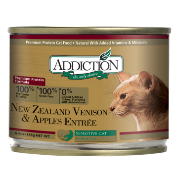 Addiction New Zealand Venison & Apples Entree 185g
